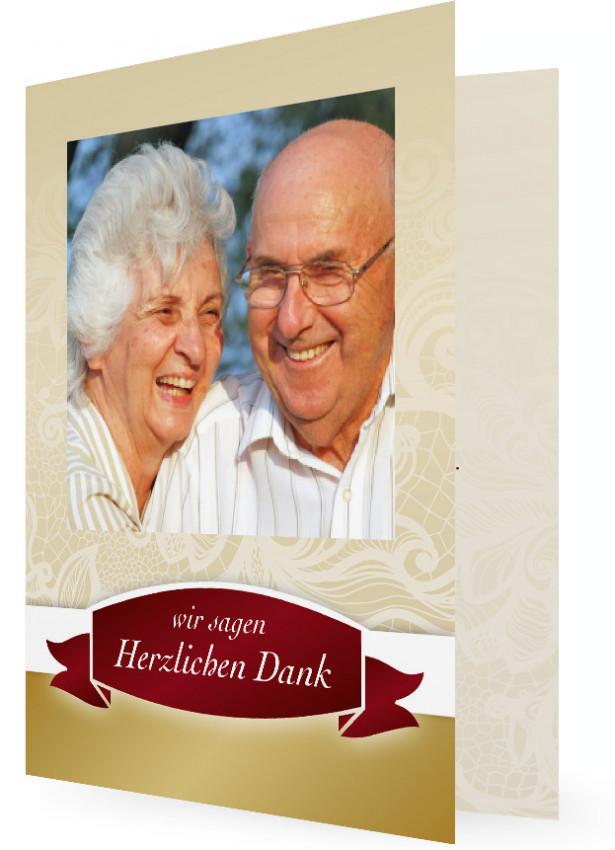Goldene Hochzeit Danksagungen  Familieneinladungende