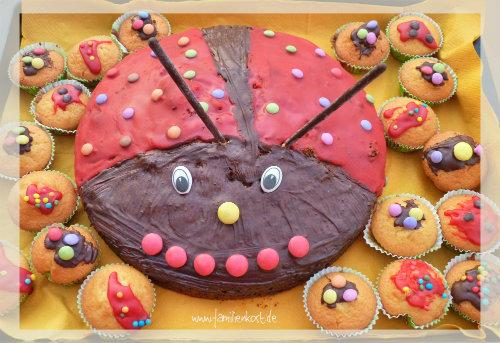 Marienkferkuchen Rezept fr den Kindergeburtstag