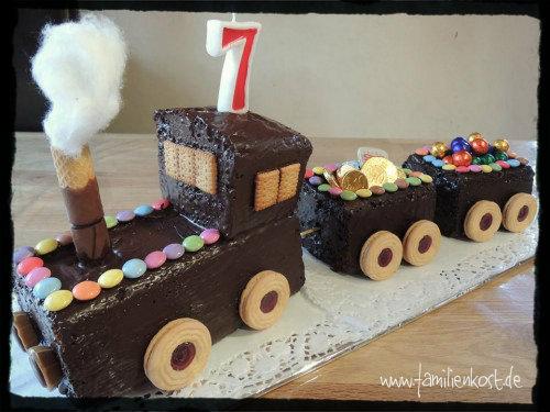 EisenbahnKuchen zum Kindergeburtstag