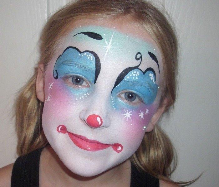 Bild 5  Kinderschminken Vorlage Clown