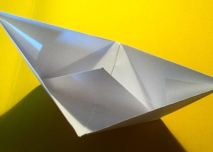 Schiff falten Aus Papier einfache Schiffe basteln
