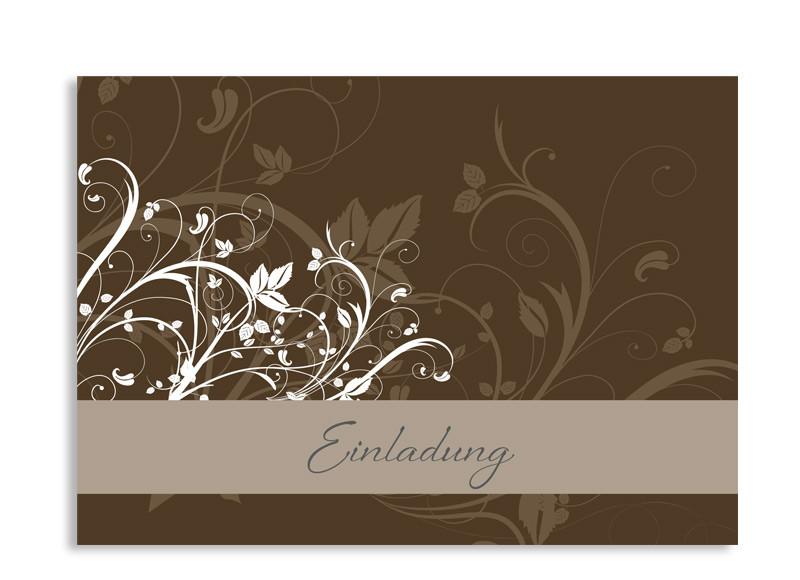 S Geburts Einladung Postkarte C Bluemchen L