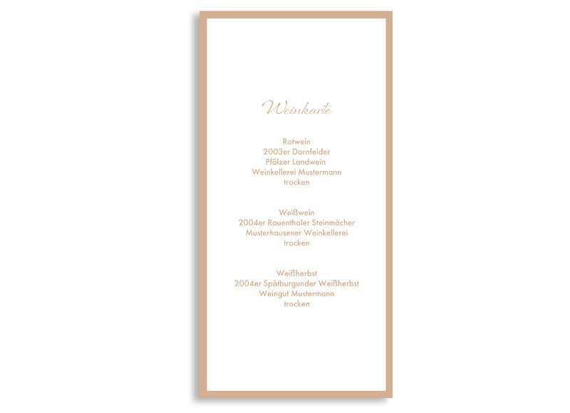 Menkarten passend zu Ihren Hochzeitskarten Verona