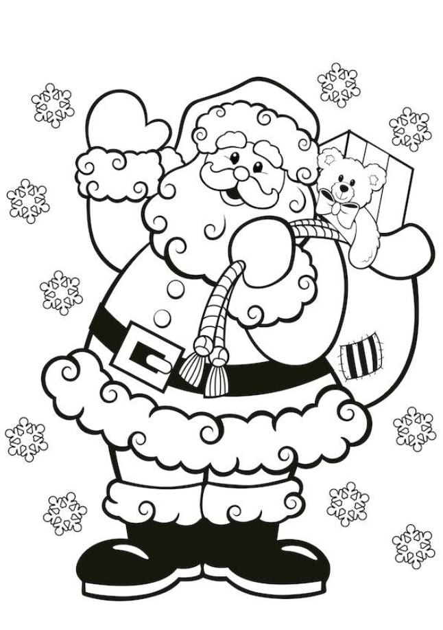 Santa Claus colouring in for kids this Christmas