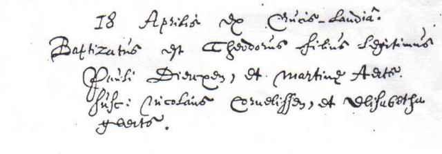 Wegen, Theodorus van der 18.04.1653 (doop)