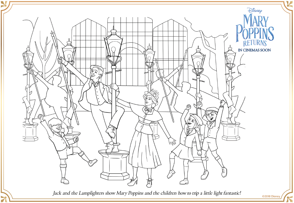Coloriage Du Film Le Retour De Mary Poppins