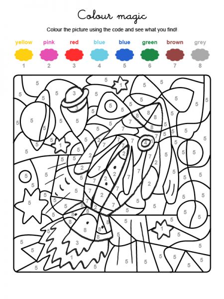 Colour by numbers : une fusée