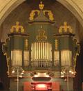 An image of the organ in Bureå Church