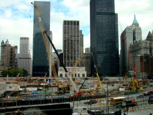 Ground zero, le chantier