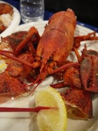 Chelsea market - notre pique-nique du midi : un homard du Maine tout frais, excellent !
