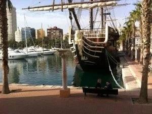 Famille nomade à Alicante