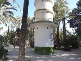 Une vue du  jardin municipal d'Elche