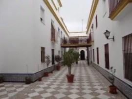Le patio de notre immeuble à Chipiona