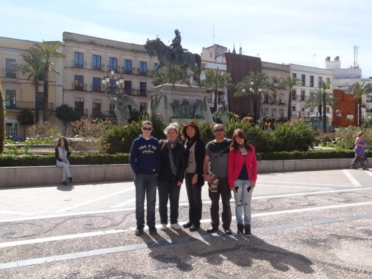 Beny, Antonio et Paola, nos hôtes à Chipiona et notre famille de ❤️
