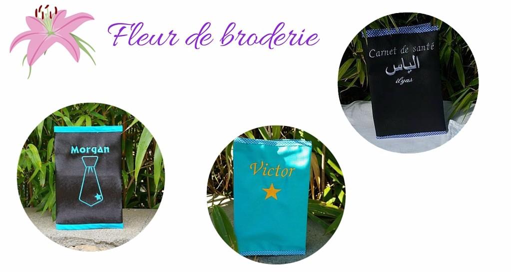 cadeaux personnalises bebe concours Fleur de broderie