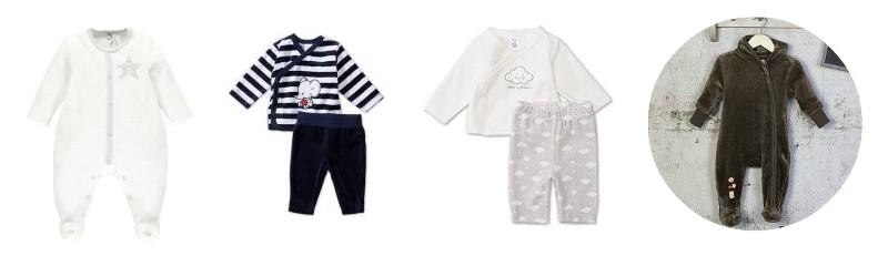 vêtements bébé indispensables pyjamas combipilote