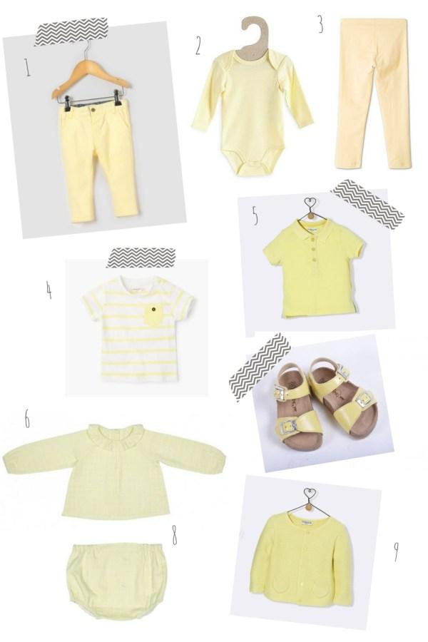 pastel pour bébé jaune pâle