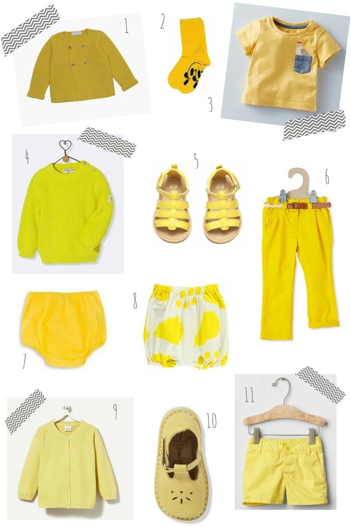 du jaune vif pour bébé