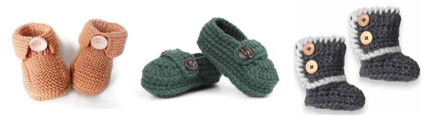 chaussures nouveau-né chaussons tricotés