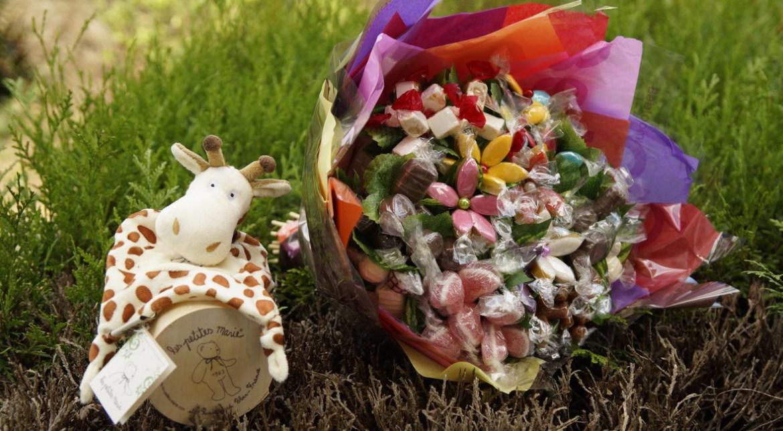 be bloom bouquet gourmand cadeau de naissance gourmand