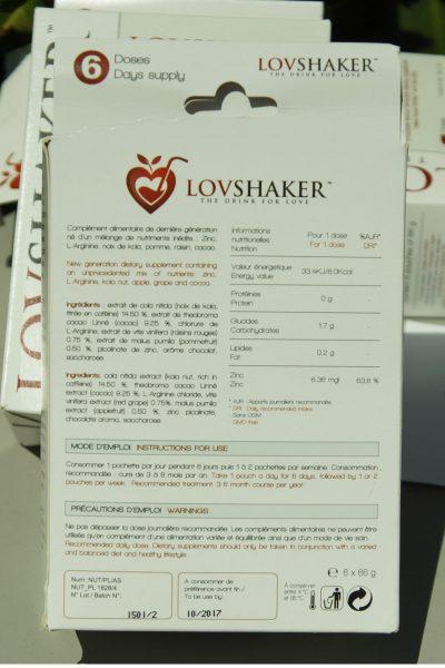 lovshaker compléments alimentaires composition
