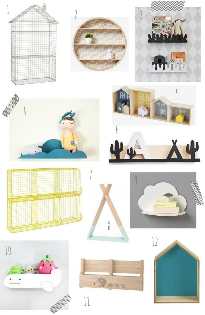 étagères pour enfant étagère maison étagère filaire étagère tipi étagère nuage étagère avion étagère lapin