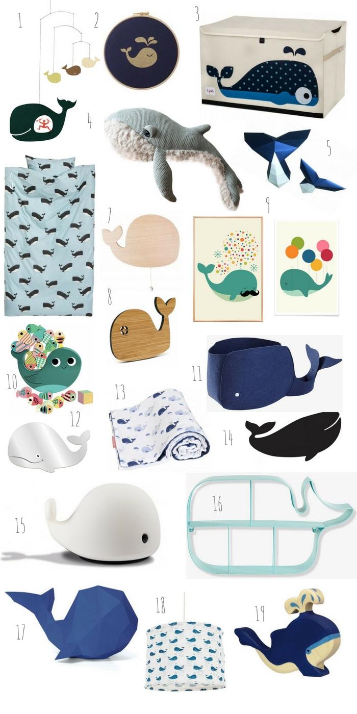 baleines déco chambre enfant bébé