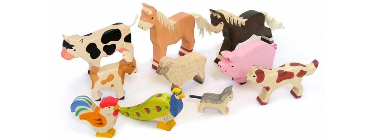 animaux en bois holztiger