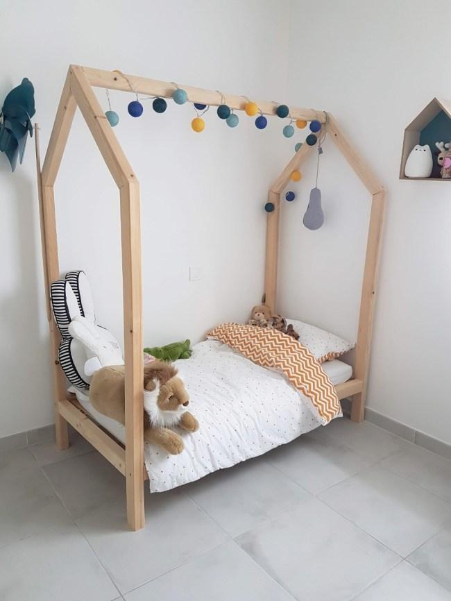lit maison en bois DIY bricolage