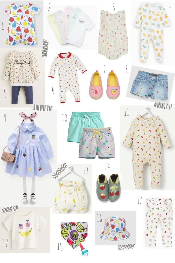 dressing tutti frutti bébé séléction