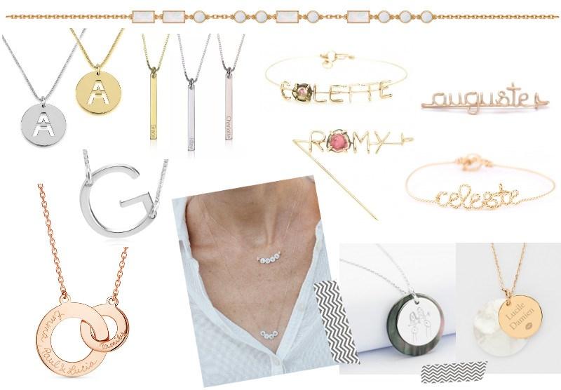 bijoux personnalisés collier broche sélection