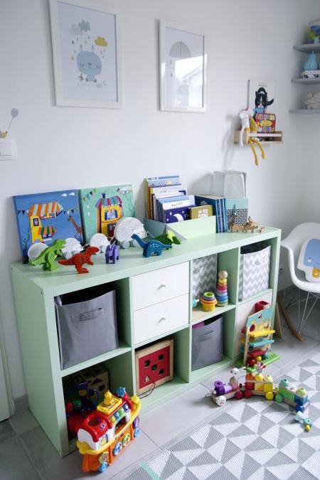 décoration chambre bébé pour jumeaux bleu vert