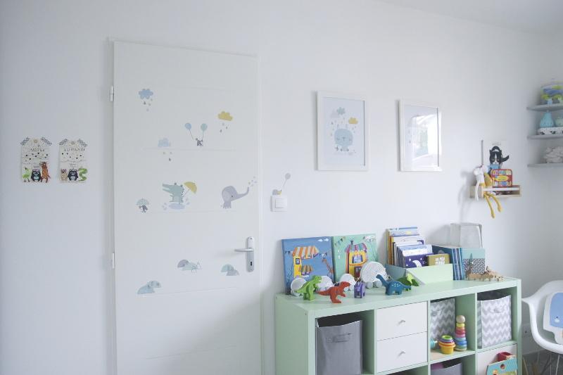 décoration chambre bébé jumeaux lilipinso affiche sticker