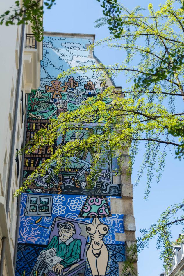 Street art à la fontaine des Haudriettes