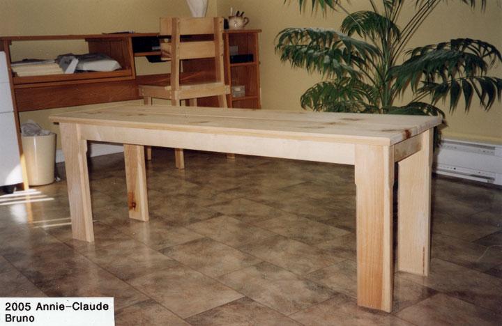 table banc cuisine