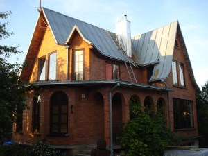 The lovely house of our couchsurfers near Kaunas, Lithuania.