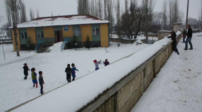 Momentaufnahme: Schneeballschlacht in Anatolien