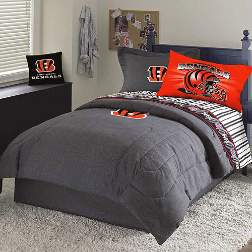 Cincinnati Bengals NFL Team Denim Full Comforter  Sheet Set