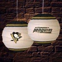 "Pittsburgh Penguins NHL 18"" Rice Paper Lamp"
