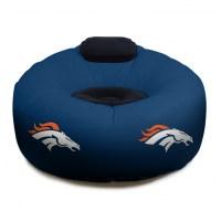 Denver Broncos NFL Vinyl Inflatable Chair w/ faux suede ...