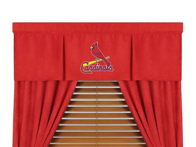 St Louis Cardinals MLB Microsuede Window Valance