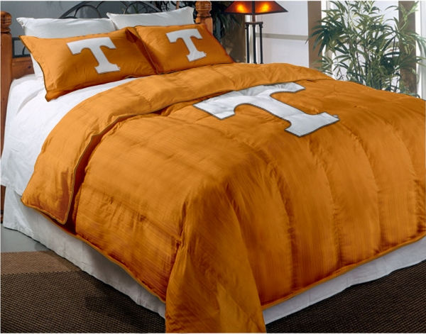 Tennessee Volunteers College Twin Chenille Embroidered Comforter Set With 2 Shams 64 X 86