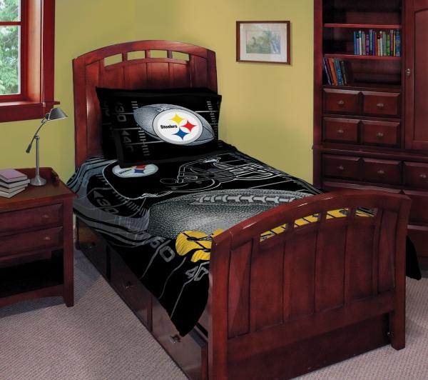 Pittsburgh Steelers NFL Twin Comforter Set 63 x 86