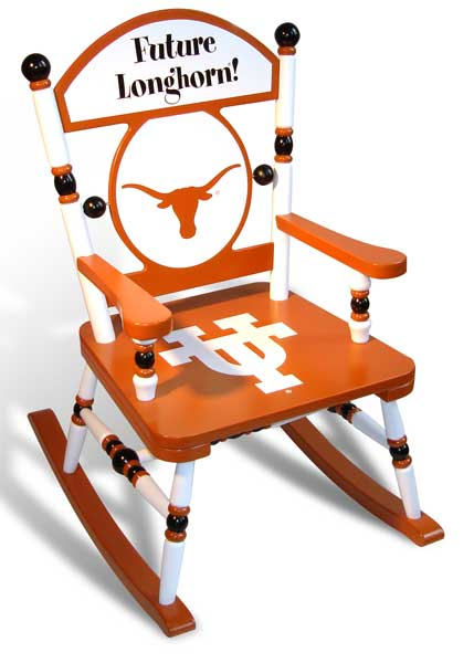 rocking chairs for nursery under 100 high seat university of texas team chair