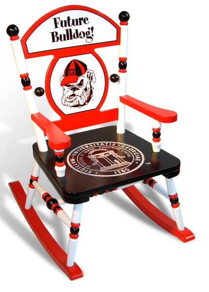 toddler desk and chair set grey damask covers university of georgia bulldogs rocking