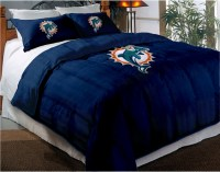 Miami Dolphins NFL Twin Chenille Embroidered Comforter Set ...