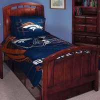 "Denver Broncos NFL Twin Comforter Set 63"" x 86"""