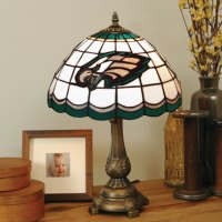 Philadelphia Eagles NFL Stained Glass Tiffany Table Lamp