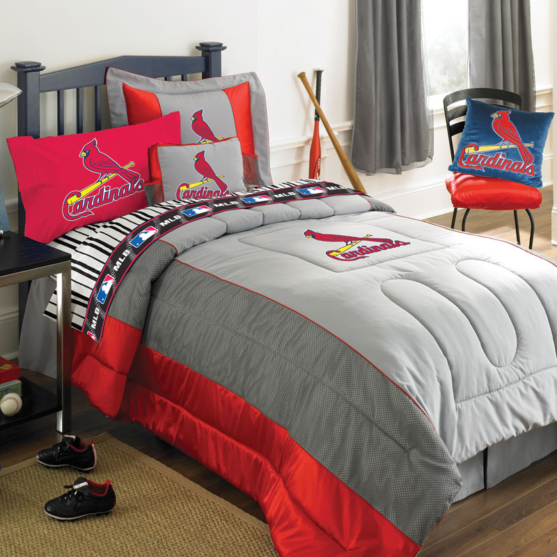 St. Louis Cardinals MLB Authentic Jersey Bedding Queen