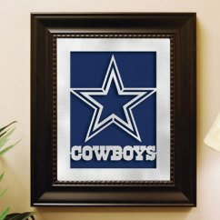 Card Table And Chairs Swivel Leather Chair Dallas Cowboys Nfl Laser Cut Framed Logo Wall Art